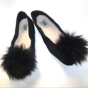 UGG ANDI SLIPPER Cotton Knit Black Size 8